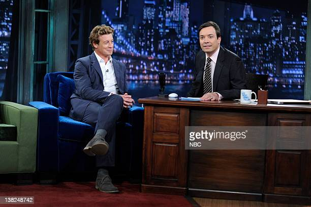 FALLON Episode 46 Airdate Pictured Actor Simon Baker during an interview with host Jimmy Fallon on May 18 2009