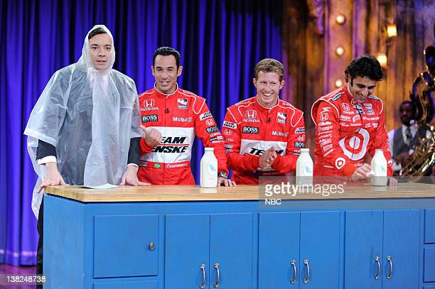 FALLON Episode 46 Airdate Pictured Host Jimmy Fallon during a milk chugging contest with race car drivers on May 18 2009