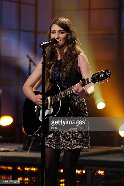 Episode 4606 -- Pictured: Musical guest Sara Bareilles performs on January 31, 2014 --