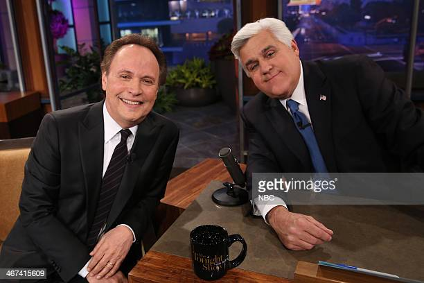 LENO Episode 4610 Pictured Actor Billy Crystal and host Jay Leno on February 6 2014
