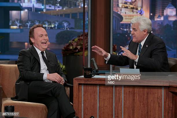 Actor Billy Crystal during an interview with host Jay Leno on February 6 2014