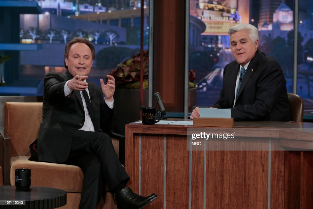 Actor Billy Crystal during an interview with host Jay Leno on February 6, 2014 --