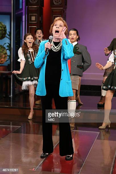 Actress Carol Burnett performs during the Farewell Song on February 6 2014