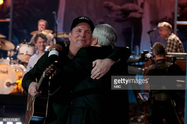 Garth Brooks and host Jay Leno on February 6 2014