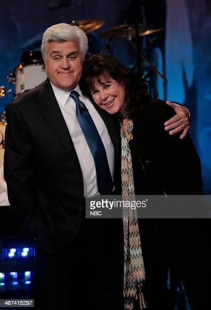 Host Jay Leno and his wife Mavis Leno on February 6 2014