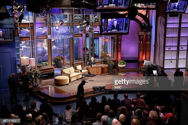 Host Jay Leno onstage February 6 2014