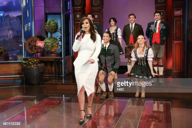 Kim Kardashian performs during the 'Farewell Song' on February 6 2014