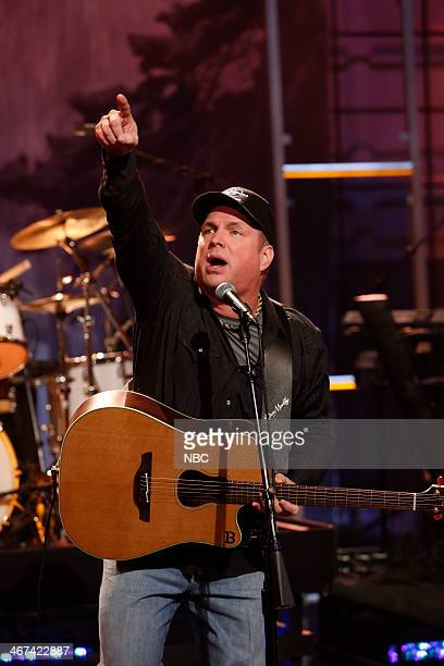 Musical guest Garth Brooks performs on February 6 2014