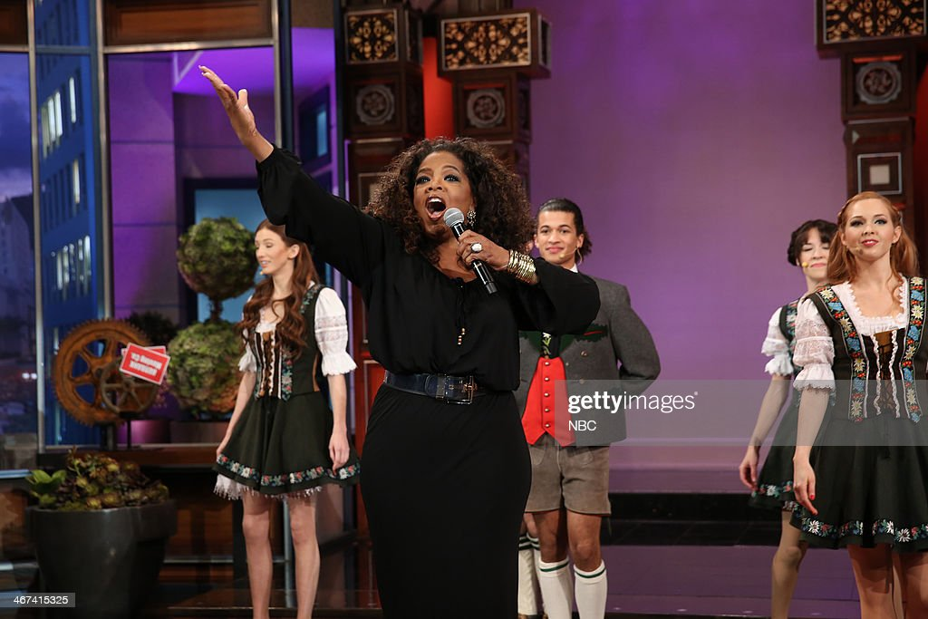 Oprah Winfrey performs during the 'Farewell Song' on February 6, 2014 --