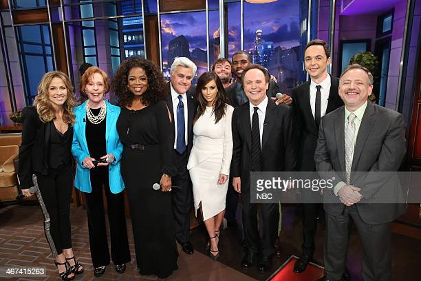 Sheryl Crow Carol Burnett Oprah Winfrey host Jay Leno Kim Kardashian Jack Black Chris Paul Billy Crystal Jim Parsons and composer Marc Shaiman on...