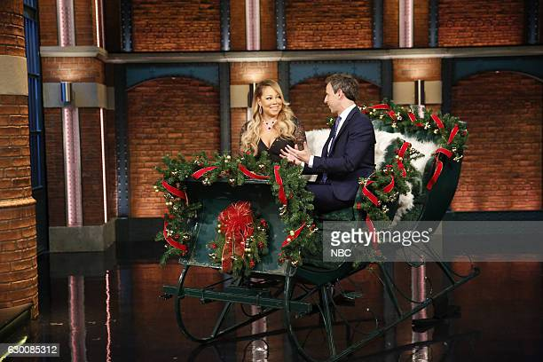 Mariah Carey during an interview with host Seth Meyers on December 15 2016