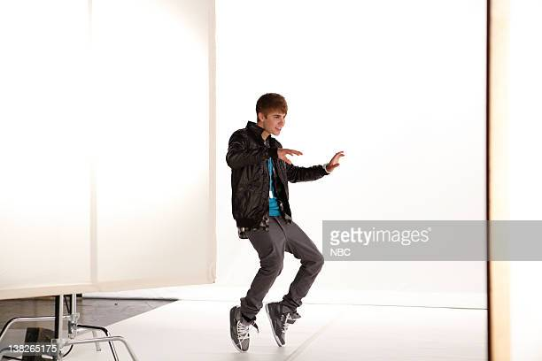Justin Bieber doing a pretape on 6/23/11 for June 24 2011 show