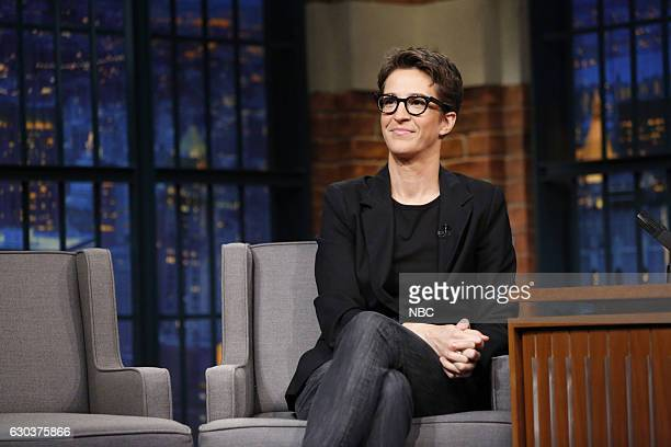 Political commentator Rachel Maddow during an interview on December 21 2016