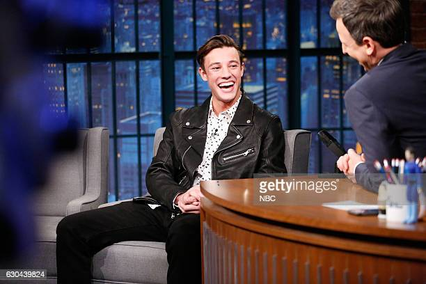 Internet personality Cameron Dallas during an interview with host Seth Meyers on December 22 2016