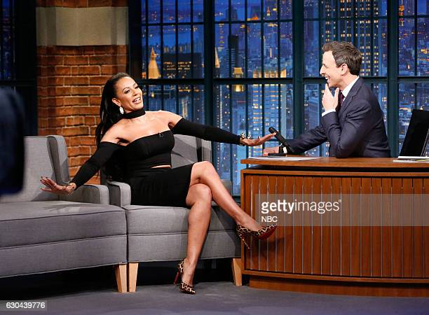 Television personality Mel B during an interview with host Seth Meyers on December 22 2016