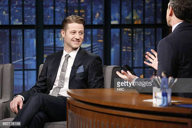 Actor Ben McKenzie during an interrview with host Seth Meyers on January 19 2017