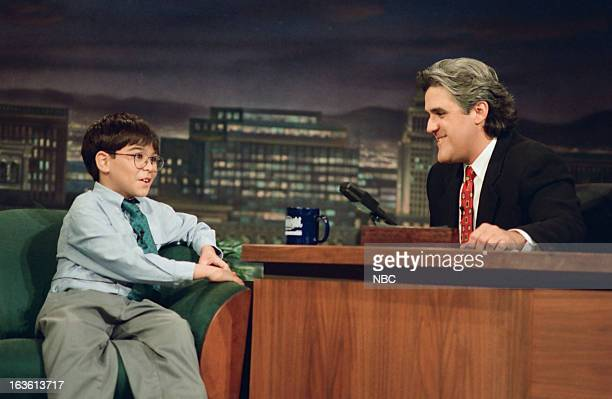 Child prodigy Michael Kearney during an interview with host Jay Leno on June 7 1994