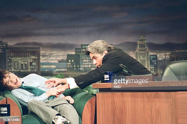 Child prodigy Michael Kearney tickled during an interview by host Jay Leno on June 7 1994