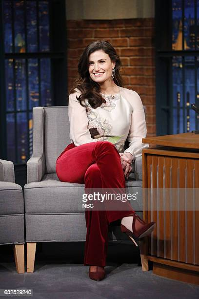 Singer Idina Menzel during an interview on January 23 2017