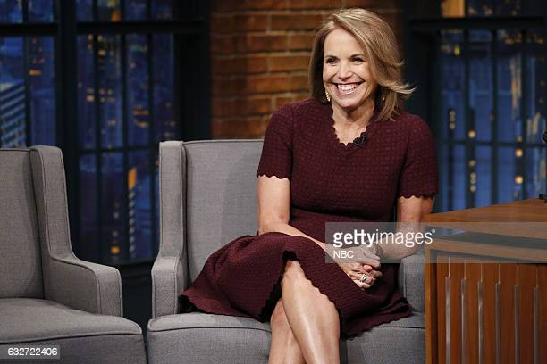 Journalist Katie Couric during an interview on January 25 2017