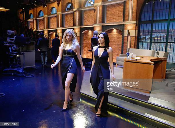 Actresses Lili Reinhart and Camila Mendes on January 26 2017