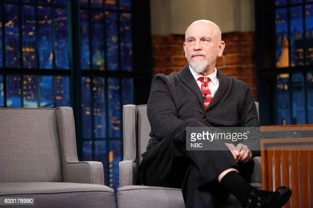 Actor John Malkovich during an interview on January 30 2017