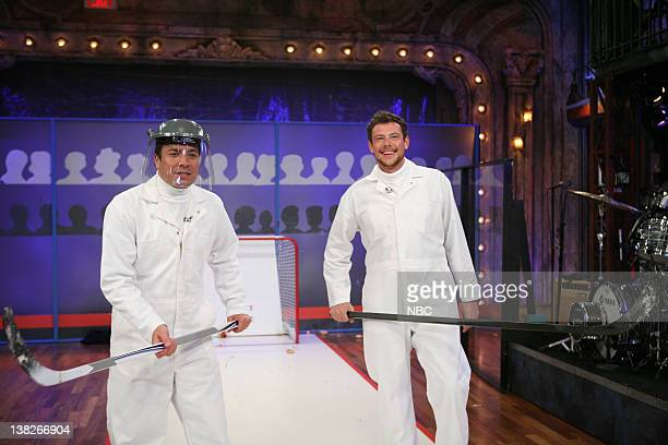 Jimmy Fallon and Cory Monteith play Jelly Donut shootout on August 1 2011