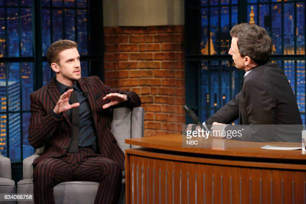 Actor Dan Stevens during an interview with host Seth Meyers on February 6 2017