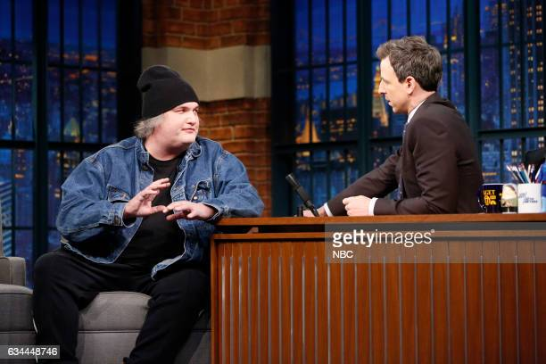 Comedian Artie Lange during an interview with hose Seth Meyers on February 9 2017