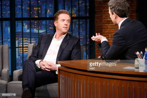 Actor Damian Lewis during an interview with host Seth Meyers on February 15 2017