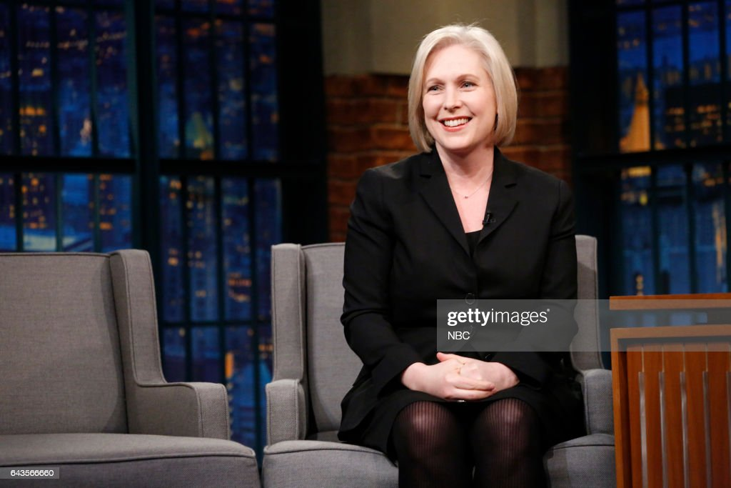 """NBC's """"Late Night With Seth Meyers"""" With Guests Gwen Stefani, Senator Kirsten Gillibrand, Tove Lo"""