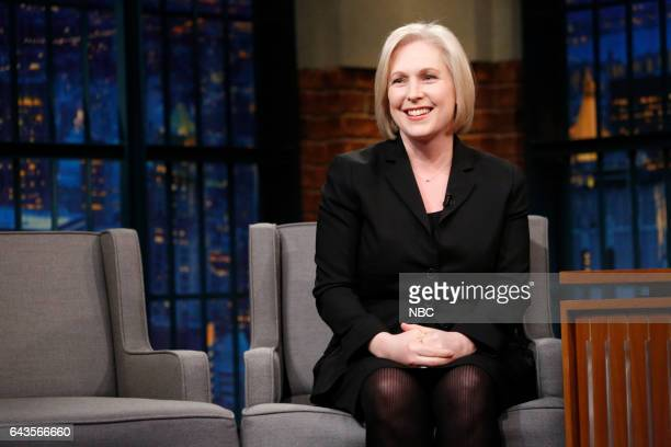 Senator Kirsten Gillibrand during an interview on February 21 2017