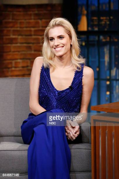 Actress Allison Williams during an interview on February 23 2017