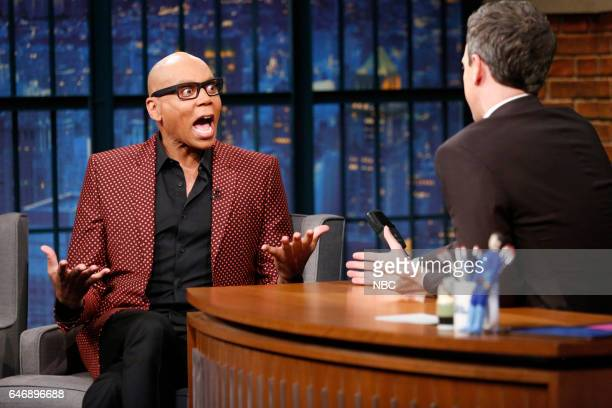RuPaul during an interview with host Seth Meyers on March 1 2017