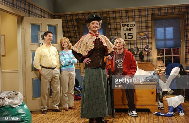 LIVE Episode 5 Air Date Pictured Chris Parnell Amy Poehler Rachel Dratch as Mrs Dalrymple Andy Roddic as Kyle during The Governess skit on November 8...