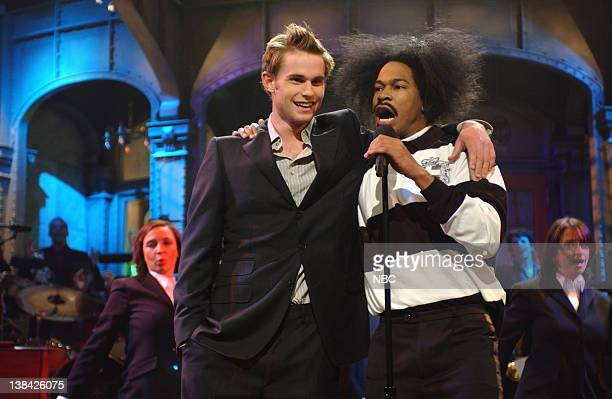LIVE Episode 5 Air Date Pictured Maya Rudolph Andy Roddick Finesse Mitchell as Andre 3000 Rachel Dratch during the monologue on November 8 2003