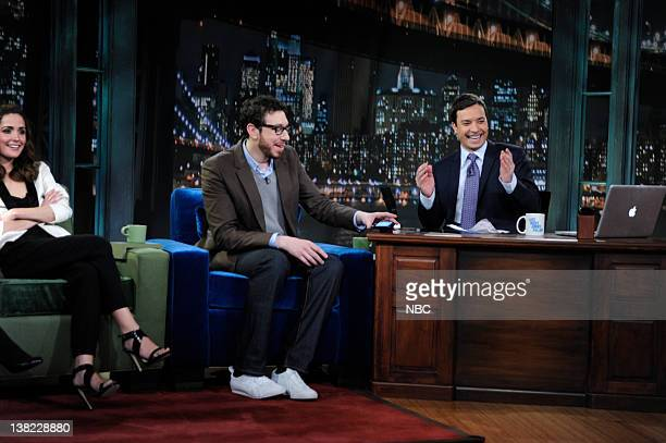 FALLON Episode 5 Airdate Pictured Actor Rose Byrne Engadget EditorinChief Josh Topolsky during a sketch with Jimmy Fallon on March 6 2009