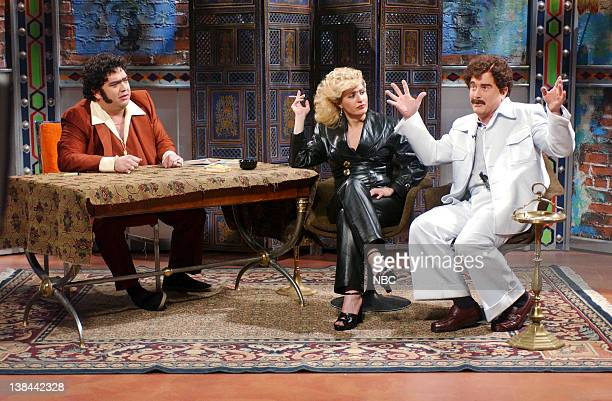 LIVE Episode 5 Aired Pictured Horatio Sanz as Ferey Muhtar Nia Vardalos as Jacaleechy Allal Darrell Hammond as Tarik Ozekial during 'The Ferey Muhtar...