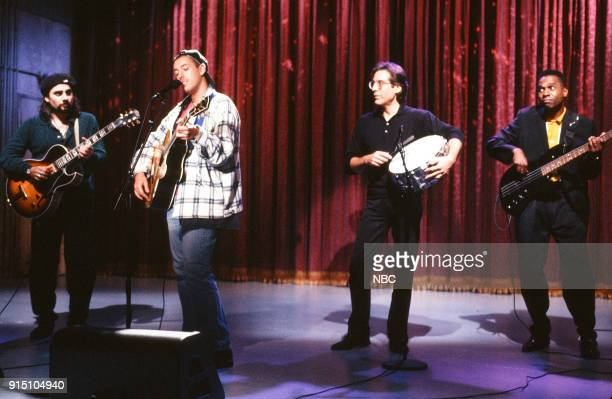 Adam Sandler performs with Max Weinberg on September 17 1993