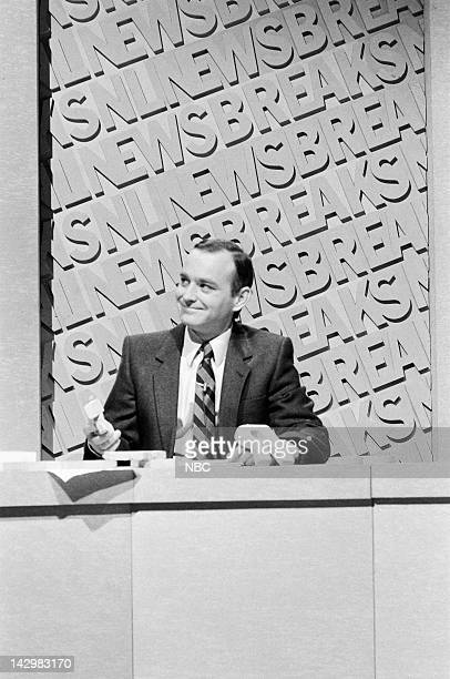 Brian DoyleMurray during the 'SNL Newsbreak' skit on November 7 1981 Photo by