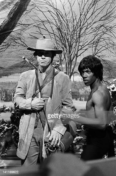 David Carradine as Caine Eddie Murphy as Bruce Lee during the 'Kung Fu Christmas' skit on December 20 1980 Photo by Alan Singer/NBC/NBCU Photo Bank