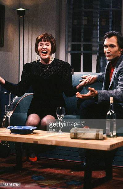 Julia Sweeney as Maureen Jimmy Smits as Richard during the 'Ditzy Date' skit on November 10 1990