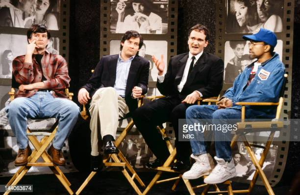 Mark McKinney as Gus Van Sant David Koechner as Oliver Stone Quentin Tarantino Tim Meadows as Spike Lee during the 'Directors on Directing' skit on...