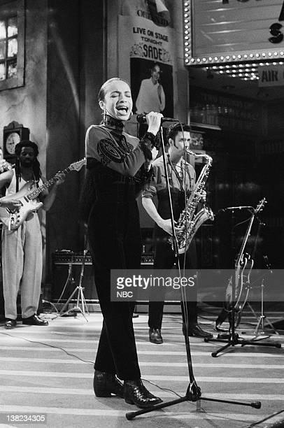 Sade during musical performance on December 14 1985