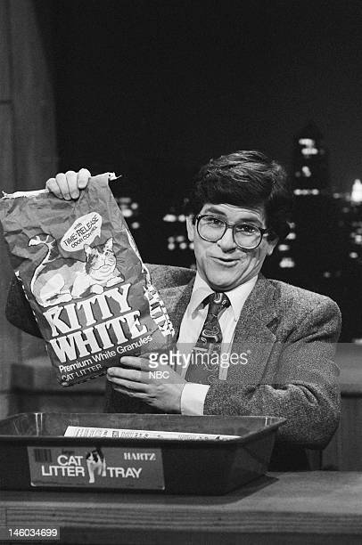 Tim Kazurinsky during Saturday Night News skit on November 12 1983