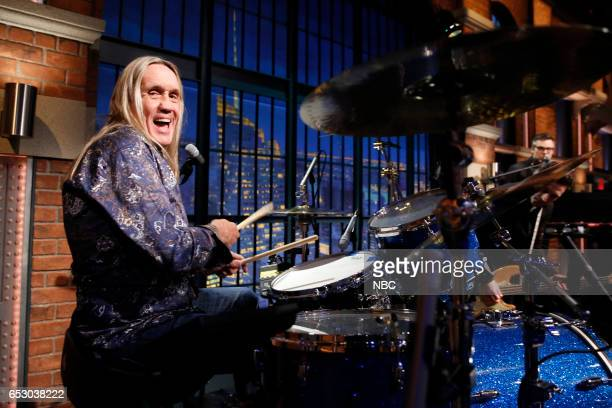 Nicko McBrain of 'Iron Maiden' sits in with the 8G Band on March 13 2017