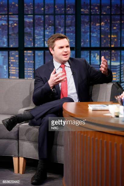 Author JD Vance during an interview on March 15 2017