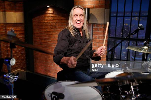 Nicko McBrain of 'Iron Maiden' sits in with the 8G Band on March 15 2017