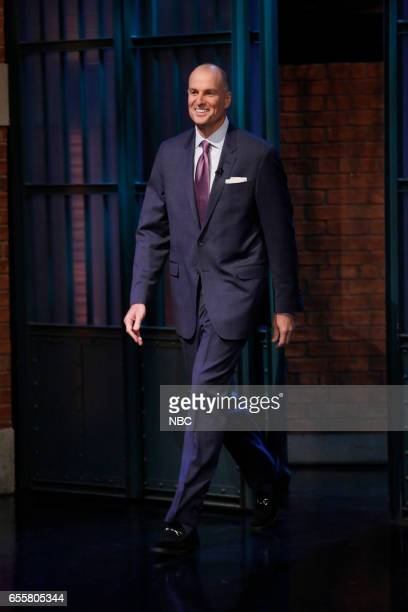 Basketball analyst Jay Bilas arrives on March 20 2017