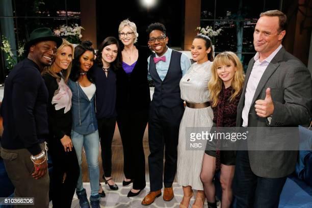 NIGHT 'TBD' Episode 505 Pictured Taye Diggs Cheryl Hines Gabby Douglas Contestant Jane Lynch Contestant Dascha Polanco Natasha Lyonne Matt Iseman
